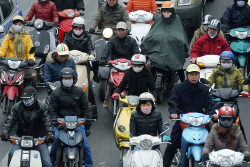 Vietnam visa from Uk - Thick winter coats for cold days in Hanoi