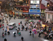 Vietnam visa application from UK - Hanoi city during rush hours